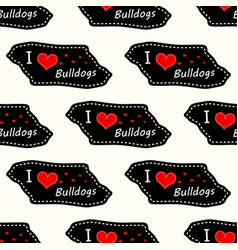 dog i love bulldogs heart valentine vector image