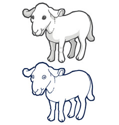 drawn goat vector image