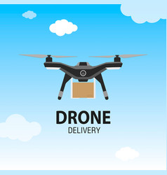 drone delivery concept copter or quadcopter vector image