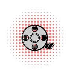 Film reel comics icon vector