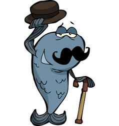 fish with a mustache vector image