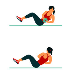 fitness exercises for strong and beautiful body vector image