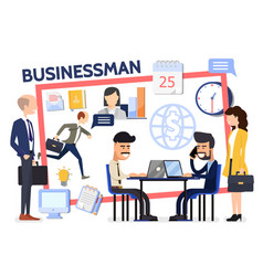 flat business composition vector image
