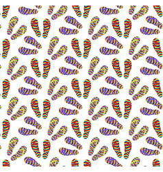 flip-flops seamless pattern cartoon style summer vector image