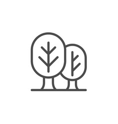 forest line outline icon and wood symbol vector image