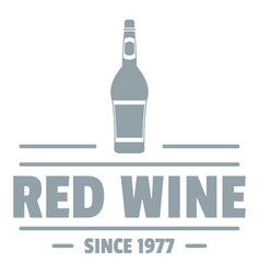 glass wine logo simple gray style vector image