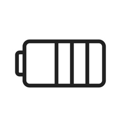 Half Battery vector image
