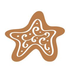 handdraw christmas cookie in scandinavian vector image