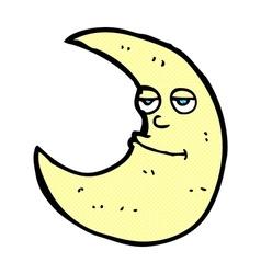 Happy comic cartoon moon vector