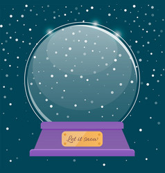 happy new year snowball christmas ball vector image