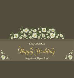 Happy wedding card invitation style vector