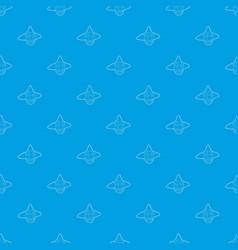 Head clown pattern seamless blue vector