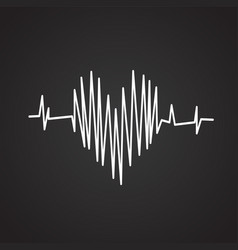 heart rate on black background vector image