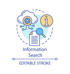 information search concept icon analytics vector image