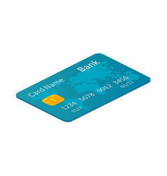 isometric credit card against the white background vector image