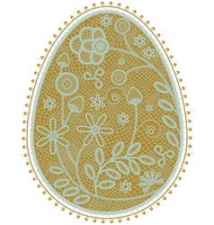 lace egg vector image