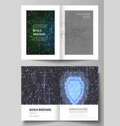 Layout of two a4 format modern cover vector