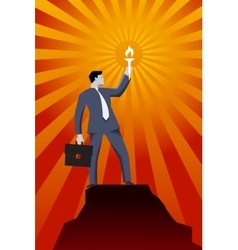 Leading in the darkness business concept vector