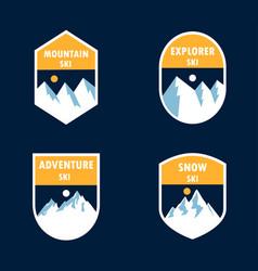 logo mountain ski vector image