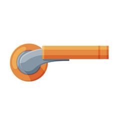 Metal golden door handle house interior element vector
