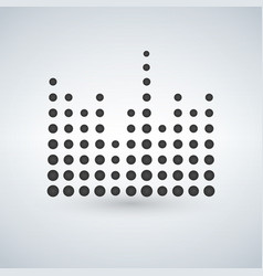 minimal circle sound waves in black isolated icon vector image