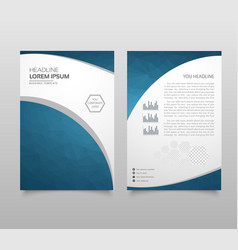 modern brochure layout flyer and cover design vector image