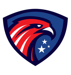 Modern eagle head sport mascot vector