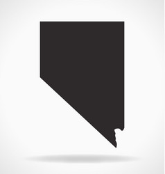 Nevada nv state map shape simplified vector