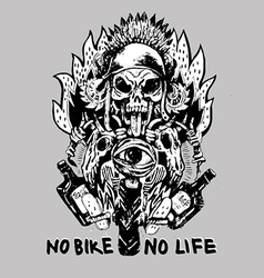 No bike no life vector
