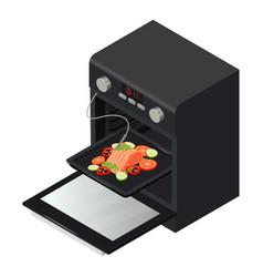 oven icon isometric style vector image