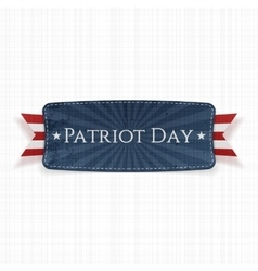 Patriot Day Label on white textile Background vector