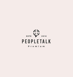 people family group community chat talk bubble vector image