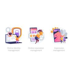 Personal brand building concept metaphors vector