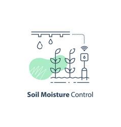 Plant irrigation system soil moisture control vector