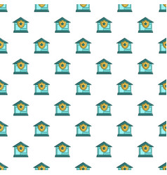 Protected home pattern seamless vector