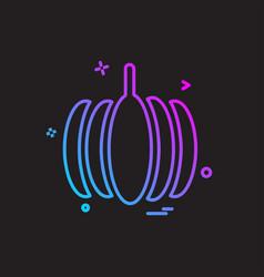pumpkin icon design vector image