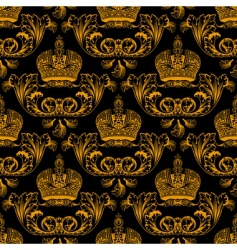 Regal crest pattern vector