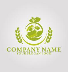 restaurant leaf logo 5 vector image