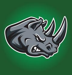 rhino head africa icon 04 vector image