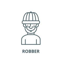 robber line icon linear concept outline vector image