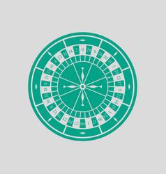 Roulette wheel icon vector