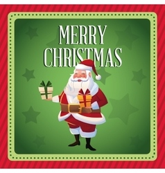 Santa cartoon of Christmas season vector