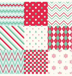 seamless christmas symbol background pattern vector image