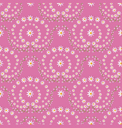 Seamless pattern with ornaments made by flowers vector