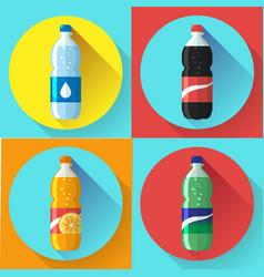 set pictures plastic bottle coca cola vector image