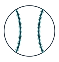 single baseball icon vector image