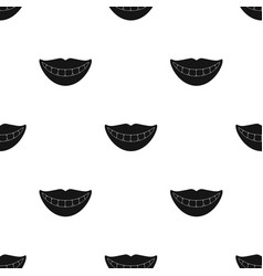 Smile with white teeth icon in black style vector