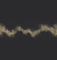Smoke trail dirty smog thick zigzag dust line vector