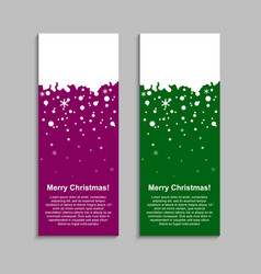 the vertical winter color banner stickers tag vector image