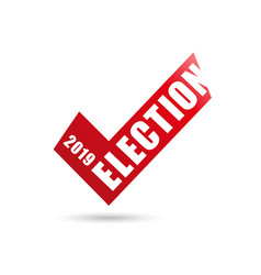 Voting symbols design 2019 election check vector